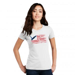 Ladies' Eagle and Stripes RWB Tee