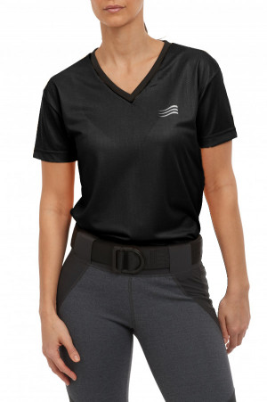 Classic V-Neck Short Sleeve Ladies