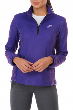 Fleece Pullover ¾ Zip Ladies