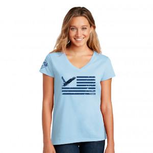 USPSA Eagle Flag Patriotic Tee Ladies'