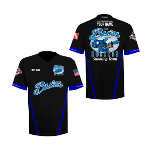 Team Blue Bullets V-Neck